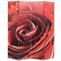 vidaXL Skládací paraván 160 x 170 cm růže červený