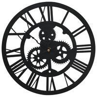 vidaXL Nástěnné hodiny černé 30 cm akrylové