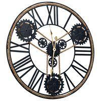 vidaXL Nástěnné hodiny černé 70 cm kov