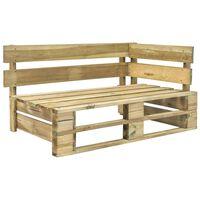 vidaXL Zahradní rohová lavice z palet dřevo