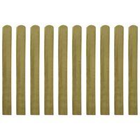 vidaXL 20 ks impregnované plotovky dřevo 100 cm