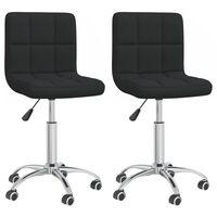 vidaXL Otočné jídelní židle 2 ks černé textil
