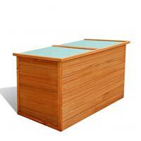 vidaXL Zahradní úložný box 126 x 72 x 72 cm dřevěný