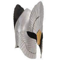 vidaXL Fantasy středověká rytířská přilba pro LARPy stříbrná ocel