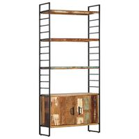 vidaXL 4patrová knihovna 80 x 30 x 180 cm masivní recyklované dřevo