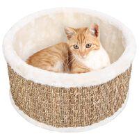 170974 vidaXL Round Cat Basket 36 cm Seagrass