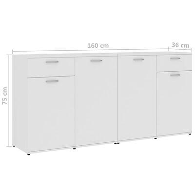 vidaXL Příborník bílý 160 x 36 x 75 cm dřevotříska