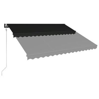 vidaXL Automatická zatahovací markýza 450 x 300 cm antracitová