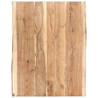 vidaXL Stolní deska masivní akáciové dřevo 80 x (50–60) x 3,8 cm