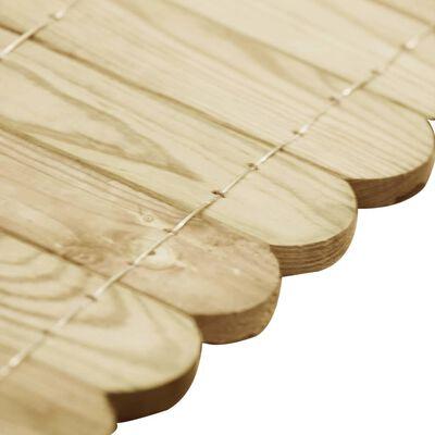 vidaXL Trávníkový lem zelený 120 cm impregnované borové dřevo