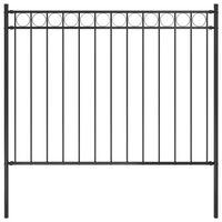vidaXL Zahradní plot ocelový 1,7 x 1,2 m černý