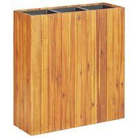 vidaXL Zahradní vyvýšený záhon se 3 nádobami masivní akáciové dřevo