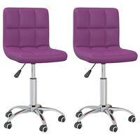 vidaXL Otočné jídelní židle 2 ks fialové umělá kůže