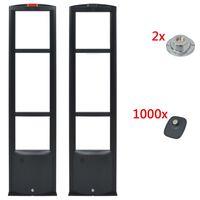 vidaXL RF systém + pevné etikety a uvolňovače etiket 8,2MHz černá
