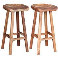 vidaXL Barové stoličky 2 ks masivní akáciové dřevo