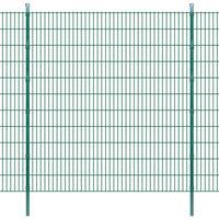 vidaXL 2D zahradní plotové dílce a sloupky 2008x2230 mm 46 m zelené