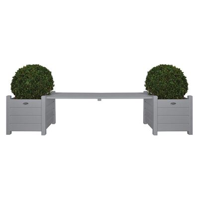 Esschert Design Truhlíky spojené lavičkou šedé CF33G
