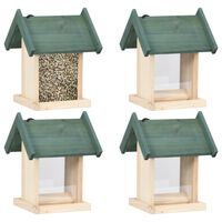vidaXL Bird Feeders 4 pcs Firwood