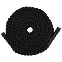 vidaXL Posilovací lano 12 m polyester černé