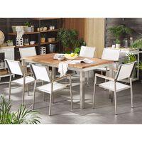 Teakový Dřevěný Zahradní Stůl 180 X 90 Cm Grosseto