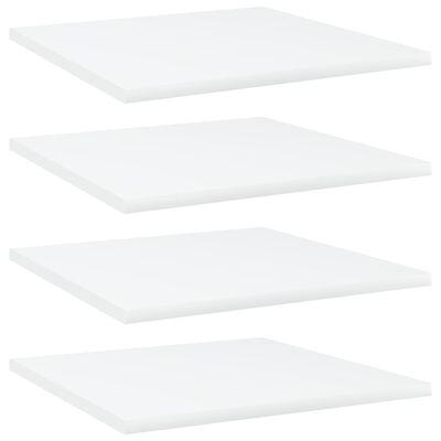 vidaXL Přídavné police 4 ks bílé 40 x 40 x 1,5 cm dřevotříska