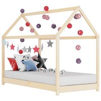 vidaXL Rám dětské postele masivní borovice 70 x 140 cm