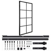 vidaXL Posuvné dveře hliník a ESG sklo s příslušenstvím 102,5 x 205 cm