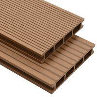 vidaXL WPC dutá terasová prkna a příslušenství 10 m² 2,2 m teak