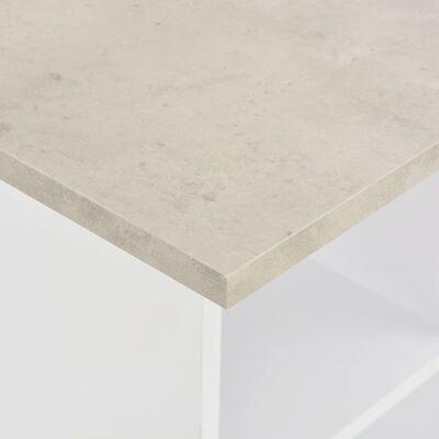 vidaXL Barový stůl bílý 60 x 60 x 110 cm