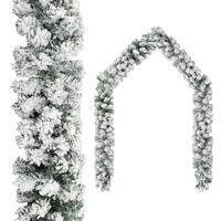 vidaXL Vánoční girlanda zasněžená zelená 20 m PVC
