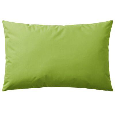vidaXL Venkovní polštáře 2 ks 60x40 cm jablkově zelená