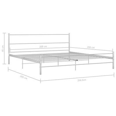 vidaXL Rám postele bílý kov 200 x 200 cm