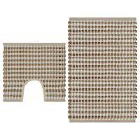 vidaXL Ručně tkané koupelnové předložky z juty sada přírodní a bílá