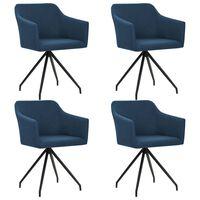 vidaXL Otočné jídelní židle 4 ks modré textil