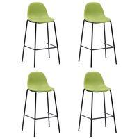 vidaXL Barové židle 4 ks zelené textil