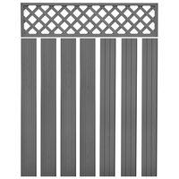 vidaXL Náhradní plotové desky WPC 7 ks 170 cm šedé
