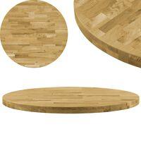 vidaXL Stolní deska z masivního dubového dřeva kulatá 44 mm 600 mm