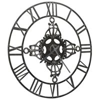 321457 vidaXL Wall Clock Silver 78 cm Metal