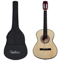 vidaXL Klasická kytara pro začátečníky s obalem 4/4 39''