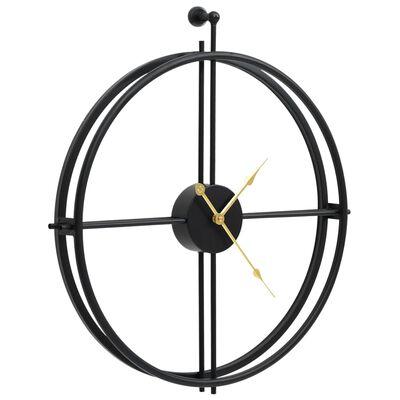 vidaXL Nástěnné hodiny černé 52 cm železo