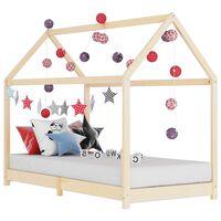 vidaXL Rám dětské postele masivní borové dřevo 90 x 200 cm