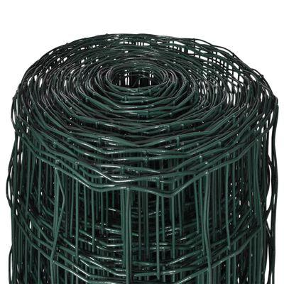 vidaXL Euro plot ocel 25 x 1,5 m zelený