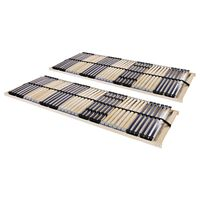 vidaXL Lamelové rošty do postele 2 ks 42 lamel 7 zón 70 x 200 cm