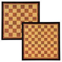 Abbey Game Šachovnice šachy a dáma Deluxe 41x41 cm dřevo hnědo-béžová