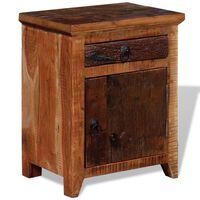 vidaXL Noční stolek masivní akácie a recyklované dřevo