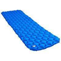 vidaXL Nafukovací karimatka 58 x 190 cm modrá