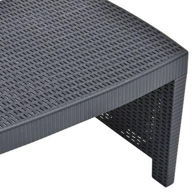 vidaXL 3dílná zahradní sedací souprava plast antracitová