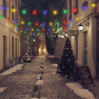 51305 vidaXL Outdoor Festoon Lights 60 pcs Round Christmas Decoration 59 m