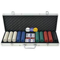 vidaXL Poker set s 500 žetony z hliníku