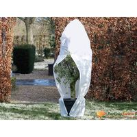 Nature Zimní fleecový kryt se zipem 70 g/m² bílý 1,5 x 1,5 x 2 m